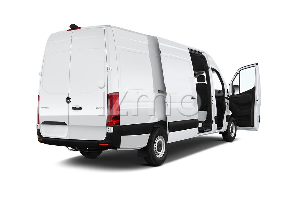Car images close up view of a 2019 Mercedes Benz Sprinter-Cargo-Van Base 4 Door Cargo Van doors