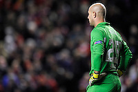 21.02.2013 Liverpool, England.Pepe Reina of Liverpool during the Europa League game between Liverpool and Zenit St Petersburg from Anfield.