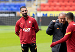 Galatasaray 's Arda Turan on the pitch at McDiarmid Park ahead of tonight's training session before facing St Johnstone in tomorrow nights Europa League qualifier second leg....11.08.21<br /><br />Picture by Graeme Hart.<br />Copyright Perthshire Picture Agency<br />Tel: 01738 623350  Mobile: 07990 594431