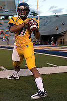 WVU quarterback Barry Brunetti.  The West Virginia Mountaineers defeated the South Florida Bulls 20-6 on October 14, 2010 at Mountaineer Field, Morgantown, West Virginia.