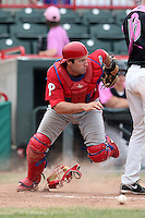Reading Phillies catcher Tim Kennelly #19 during a game against the Erie Seawolves at Jerry Uht Park on May 29, 2011 in Erie, Pennsylvania.  Erie defeated Reading 6-5 in ten innings.  Photo By Mike Janes/Four Seam Images
