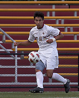 Boston College midfielder/defender Isaac Taylor (11) passes the ball. Boston College defeated Harvard University, 2-0, at Newton Campus Field, October 11, 2011.