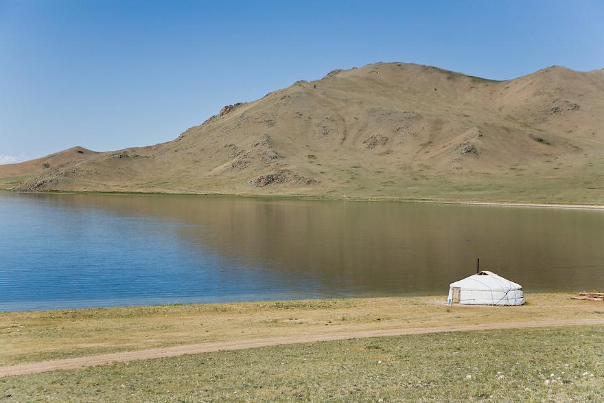 Ger at Terkhiin Tsagaan Nuur (Great White Lake) Mongolia
