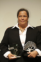 SEptember 3,, 2012 - Montreal (Qc) CANADA -  <br />  Montreal World Film Festival closing ceremonies - Martine Chartrand, winner 1st prize short film and winner Award for Best Canadian Short Movie , for the animation  MACPHERSON