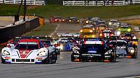 #5 Corvette DP, Joao Barbosa, Christian Fittipaldi, Sebastien Bourdais, Start, Petit Le Mans , Road Atlanta, Braselton, GA, October 2014.   (Photo by Brian Cleary/www.bcpix.com)