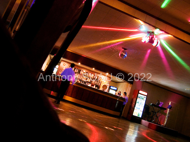 Ternopil, Ukraine.May 27, 2005 ..The restaurant and dance floor in Ternopil's old Intourist hotel.