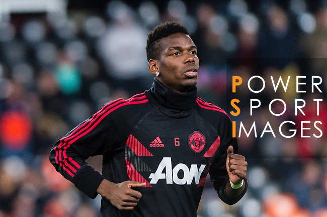 Paul Pogba of Manchester United warming up during the UEFA Champions League 2018-19 match between Valencia CF and Manchester United at Estadio de Mestalla on December 12 2018 in Valencia, Spain. Photo by Maria Jose Segovia Carmona / Power Sport Images