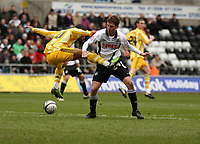 ATTENTION SPORTS PICTURE DESK<br /> Pictured: Joe Allen of Swansea City in action<br /> Re: Coca Cola Championship, Swansea City Football Club v Newcastle United at the Liberty Stadium, Swansea, south Wales. 13 February 2010