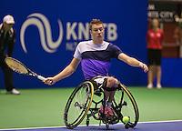 December 189 2014, Rotterdam, Topsport Centrum, Lotto NK Tennis, Rody de Bie (NED)<br /> Photo: Tennisimages/Henk Koster