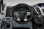 Car pictures of steering wheel view of a 2016 Ford Transit 350-XLT-Med-Roof 4 Door Passenger Van Steering Wheel
