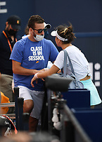 MIAMI GARDENS, FL - APRIL 03: Bianca Andreescu Vs Ashleigh Barty during the Women's finals at the 2021Miami Open at Hard Rock Stadium, Ashleigh Barty defeats Bianca Andreescu 6-3, 4-0 ret on April 3, 2021 in Miami Gardens, Florida. Credit: mpi04/MediaPunch