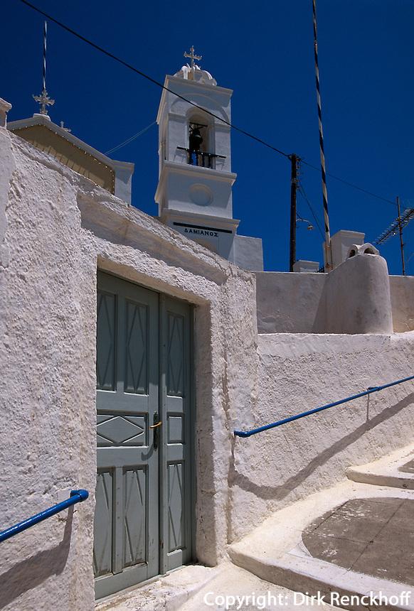 Kirche Agios Damian in Megalochori, Insel Santorin (Santorini), Griechenland, Europa