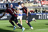 Mattia Bani of Bologna celebrates after scoring a goal <br /> Bologna 27/10/2019 Stadio Renato Dall'Ara <br /> Football Serie A 2019/2020 <br /> Bologna FC - Sampdoria UC<br /> Photo Daniele Buffa / Image Sport / Insidefoto