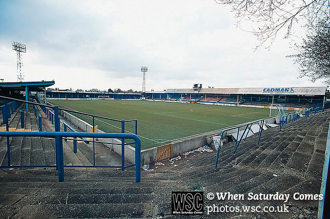 Layer Road, Colchester Utd c1996.<br /> (Exact date tbc). Photo by Tony Davis