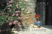 Interlitho, CHILDREN, photos, boy, wall, flowers(KL1909/2,#K#) Kinder, niños