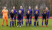 Anderlecht players poses for team photo before a female soccer game between Standard Femina de Liege and RSC Anderlecht on the 9th matchday of the 2020 - 2021 season of Belgian Scooore Womens Super League , saturday 12 th of December 2020  in Angleur , Belgium . PHOTO SPORTPIX.BE   SPP   SEVIL OKTEM