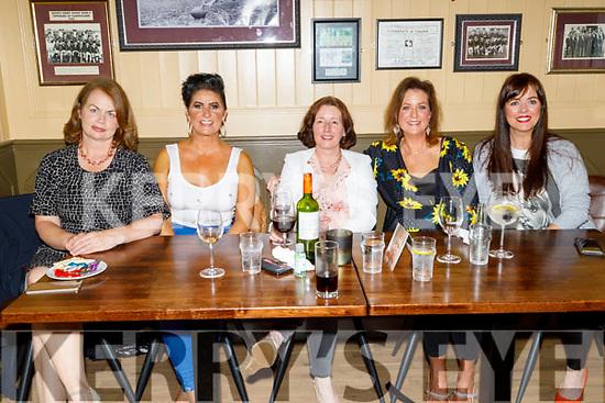 Mary Walsh, Catherine O'Sullivan, Maura Morgan, Noreen McElligott and Rebecca Ryan enjoying the evening in the Mall Tavern on Friday.