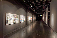 "Pictured: Interior view of the exhibition. Tuesday 03 September 2019<br /> Re: Opening of ""No More Shall We Part, 14 Paintings, 17 Years Later"", a collection of paintings based on the Nick Cave and the Bad Seeds album with the same name, by Stefanos Rokos at Bernerts Gallery in Antwerp, Belgium."