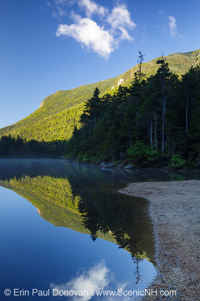 Upper Greeley Pond in the White Mountains, New Hampshire USA during the summer months. This pond is part of the Greeley Ponds Scenic Area.