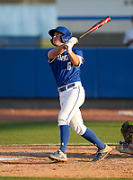 IMG Academy Ascenders Jack Thompson (6) hits a home run during a game against the Montverde Academy Eagles on April 8, 2021 at IMG Academy in Bradenton, Florida.  (Mike Janes/Four Seam Images)