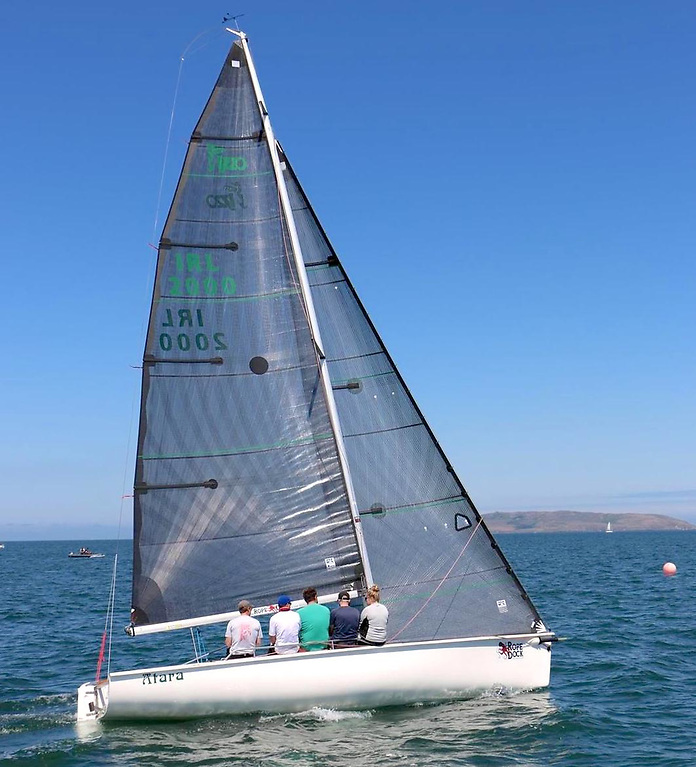 1720 Eastern Championship winners, Atara using a full inventroy of UK Sails