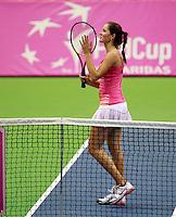 Bojana Jovanovski, Fed Cup Serbia vs Canada, World group II, first round, Novi Sad, Serbia, SPENS Sports Center, Saturday, February 05, 2011. (credit & photo: Pedja Milosavljevic / +381641260959 / thepedja@gmail.com / STARSPORT)