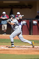 Kal Simmons (10) of the Kennesaw State Owls follows through on his swing against the Winthrop Eagles at the Winthrop Ballpark on March 15, 2015 in Rock Hill, South Carolina.  The Eagles defeated the Owls 11-4.  (Brian Westerholt/Four Seam Images)