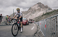 Mikel Nieve (ESP/SKY) up the highest point in the 2017 TdF: The Galibier (HC/2642m/17.7km/6.9%)<br /> <br /> 104th Tour de France 2017<br /> Stage 17 - La Mure › Serre-Chevalier (183km)