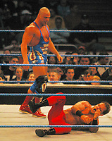 Kurt Angle and Chris Benoit 2003<br /> Madison Square Garden<br /> Photo By John Barrett/PHOTOlink/MediaPunch