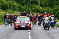 July 13th 2021, Saint-Gaudens, Haute-Garonne, France: The peleton during stage 16 of the 108th edition of the 2021 Tour de France cycling race, a stage of 169 kms between El Pas de la Casa and Saint-Gaudens.