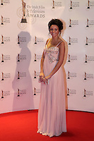 12/2/11 Caronation streets Michelle Keegan on the red carpet at the 8th Irish Film and Television Awards at the Convention centre in Dublin. Picture:Arthur Carron/Collins