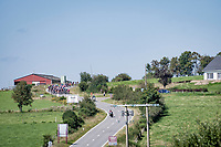 peloton coming round the bend<br /> <br /> 17th Benelux Tour 2021<br /> Stage 6 from Ottignies/Louvain-la-Neuve to Houffalize (BEL/208km)<br /> <br /> ©kramon