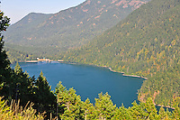 Lake Mills and Glines Canyon Dam, Elwha River Valley,Olympic National Park. Also called Upper Elwha River Dam.