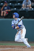 Brad Witkowski (3) of the Hofstra Pride bats during a game against the UCLA Bruins at Jackie Robinson Stadium on March 14, 2015 in Los Angeles, California. UCLA defeated Hofstra, 18-1. (Larry Goren/Four Seam Images)