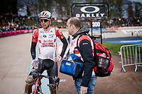 Jens Keukeleire (BEL/Lotto-Soudal) post-race<br /> <br /> 117th Paris-Roubaix 2019 (1.UWT)<br /> One day race from Compiègne to Roubaix (FRA/257km)<br /> <br /> ©kramon