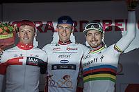 Final GC Eneco podium:<br /> 1/ Niki Terpstra (NED/Etixx-QuickStep)<br /> 2/ Oliver Naesen (BEL/IAM)<br /> 3/ Peter Sagan (SVK/Tinkoff)<br /> <br /> 12th Eneco Tour 2016 (UCI World Tour)<br /> Stage 7: Bornem › Geraardsbergen (198km)