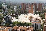 Colombia drug lord Pablo Escobar's building demolished in Medellin