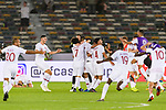 Players of Qatar celebrates after winning the AFC Asian Cup UAE 2019 Quarter Finals match between Qatar (QAT) and South Korea (KOR) at Zayed Sports City Stadium  on 25 January 2019 in Abu Dhabi, United Arab Emirates. Photo by Marcio Rodrigo Machado / Power Sport Images