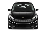 Car photography straight front view of a 2021 Ford Galaxy Titanium 5 Door Minivan Front View