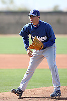 Jesus Castillo, Los Angeles Dodgers 2010 minor league spring training..Photo by:  Bill Mitchell/Four Seam Images.