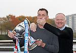 Alex McLeish manages to shut up BT Sport pundit Chris Sutton today in Glasgow