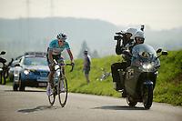 Dwars door Vlaanderen 2012.Niki Terpstra on his way to the win