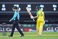 Australia's Beth Mooney celebrates her 50 runs during the 2nd international women's T20 cricket match between the New Zealand White Ferns and Australia at McLean Park in Napier, New Zealand on Tuesday, 30 March 2021. Photo: Dave Lintott / lintottphoto.co.nz