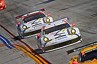 #911 Porsche of Nick Tandy and Richard Lietz, , Long Beach Grand Prix, Long Beach, CA, April 2014.  (Photo by Brian Cleary/ www.bcpix.com )