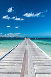 Jetty on Mana Island, location of Mana Island Resort in the Mamanuca Islands, Fiji