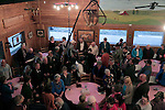 MOCKSVILLE, NC - NOVEMBER 2:  North Carolina Republican U.S. Senate candidate Thom Tillis, back center, works the crowd during a campaign stop at Miller's Restaurant in Mocksville, NC, on Sunday, November 2, 2014.  (Photo by Ted Richardson/For The Washington Post)