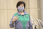 June 2, 2020, Tokyo, Japan: Tokyo Governor Yuriko Koike speaks at the Tokyo metropolitan government's task force meeting on the coronavirus on June 2, 2020. (Photo by Pasya/AFLO)
