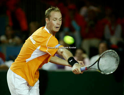 20030919, Zwolle, Davis Cup, NL-India, Martin Verkerk in his match against Bopanna
