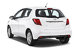 Car pictures of rear three quarter view of2015 Toyota YARIS Dynamic 5 Door Hatchback 2WD Angular Rear