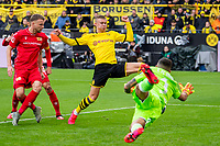 Football 1 Bundesliga, Season 2019 2020, 20 Matchday, Borussia Dortmund Union Berlin on 01 02 2020 at Signal Iduna Park in Dortmund Nordrhein Westfalen Dortmunds Erling Braut Haaland meets for 2 0 <br /> xInderlied/Kirchner-Mediax<br /> Photo Imago/Insidefoto <br /> Italy Only